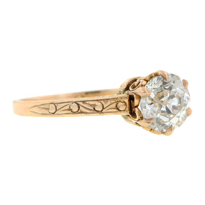 Edwardian Diamond Engagement Ring, Old Euro 1.17ct