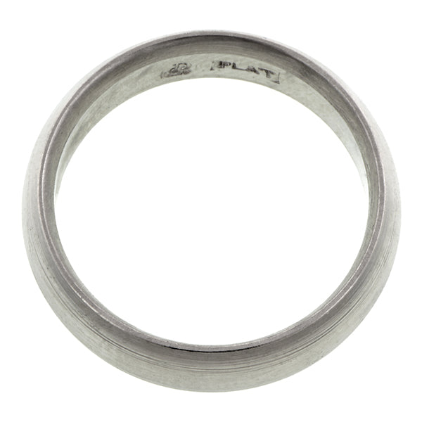 Contemporary ring: a Platinum Comfort Fit Wedding Band Ring, 6mm sold by Doyle & Doyle vintage and antique jewelry boutique.