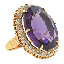 Vintage Amethyst & Diamond Ring