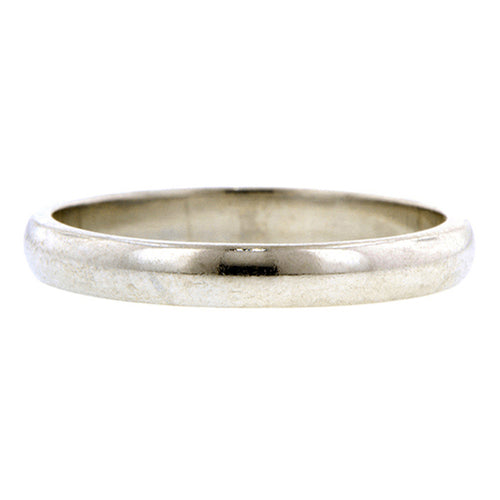 Vintage ring; a Platinum Wedding Band sold by Doyle & Doyle vintage and antique jewelry boutique.
