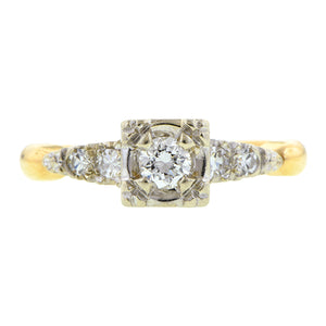 Vintage Diamond Ring, RBC 0.15ct : Doyle & Doyle