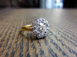 Antique Diamond Cluster Engagement Ring, Old Mine 1.25ct:: Doyle & Doyle
