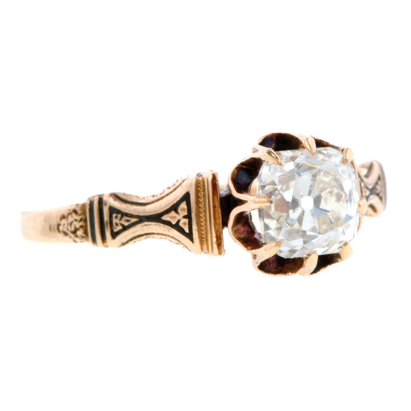 Victorian Diamond Engagement Ring, Old Mine 1.05ct:: Doyle & Doyle