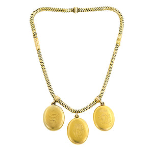 Victorian Three Locket Necklace:: Doyle & Doyle