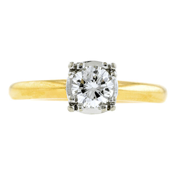 Vintage Solitaire Engagement Ring, RBC 0.55ct:: Doyle & Doyle