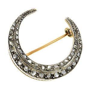 Antique Diamond Crescent Brooch:: Doyle & Doyle