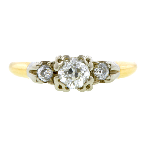 Art Deco Diamond Engagement Ring, Old Euro 0.37ct::Doyle & Doyle