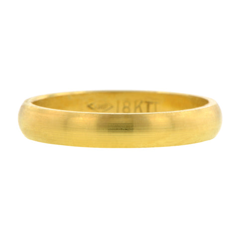 Contemporary ring: a Yellow Gold18k Half Round Band 3mm sold by Doyle & Doyle vintage and antique jewelry boutique.