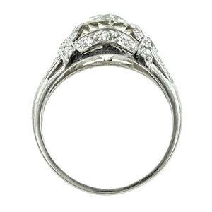 Art Deco Engagement Ring, Old European 3.41ct., sold by Doyle & Doyle an antique and vintage jewelry store.