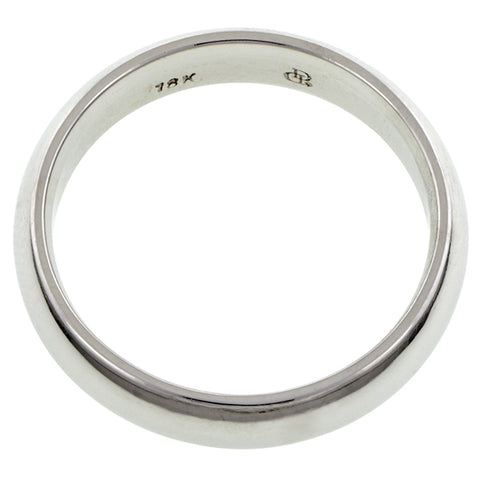 Comfort Fit Wedding Band Ring, 6mm 18kw