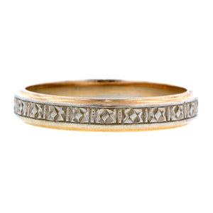 Vintage Patterned Wedding Band::Doyle & Doyle