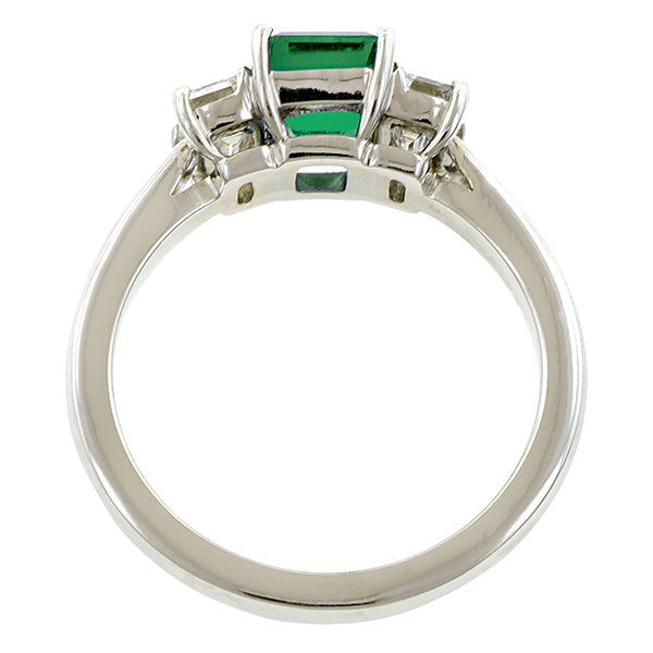 Emerald & Diamond Ring, EM 0.72ct