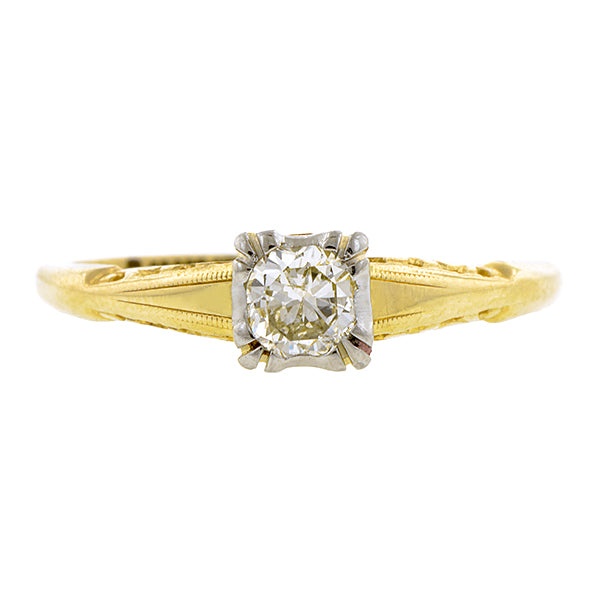 Vintage Diamond Engagement Ring, RBC 0.23ct:: Doyle & Doyle
