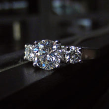 Estate Three Stone Diamond Engagement Ring; RBC 1.34ctw:: Doyle & Doyle