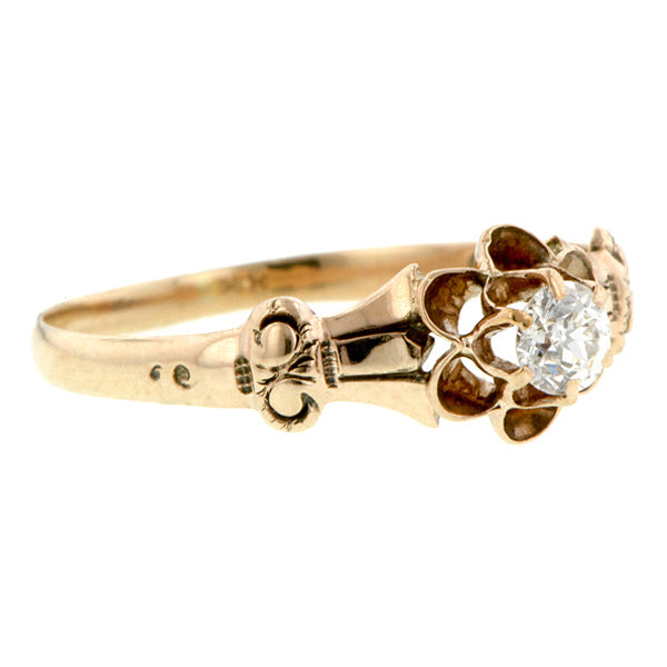 Victorian Solitaire Diamond Ring, Old European Doyle & Doyle