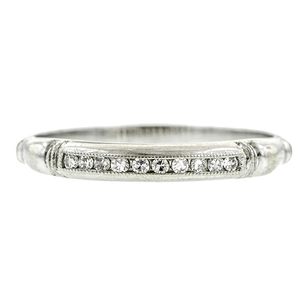 Art Deco Diamond Wedding Band, Single Cut 0.07ctw:: Doyle & Doyle