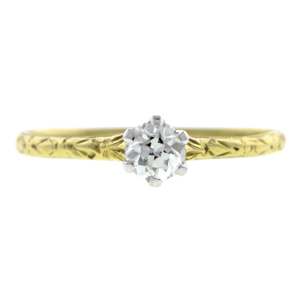 Vintage Diamond Solitaire Engagement Ring, TRB 0.19ct:: Doyle & Doyle