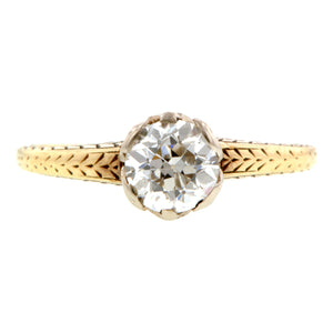 Edwardian Solitaire Engagement Ring, Old Euro 0.78ct Doyle & Doyle