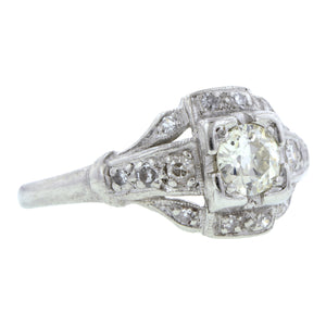 Vintage Diamond Engagement Ring, Old Euro 0.25ct