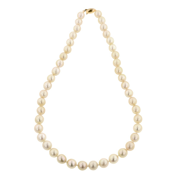 Single Strand Pearl Necklace:: Doyle & Doyle