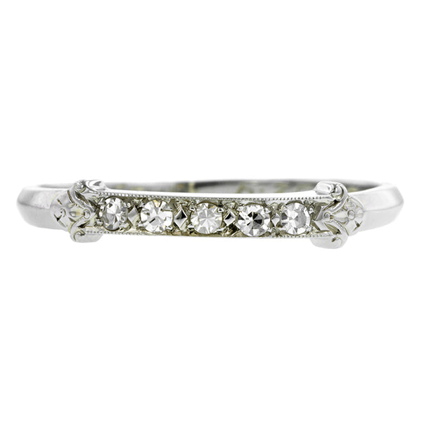 Art Deco Diamond Wedding Band::Doyle & Doyle