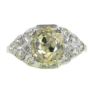 Vintage Engagement Ring, Old Mine 2.24ct