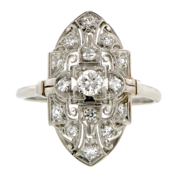 Vintage Diamond Dinner Ring, RBC 0.18ct:: Doyle & Doyle