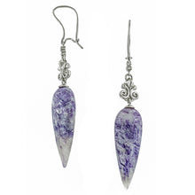 One of a Kind - Lace Agate & Diamond Drop Earrings- Doyle & Doyle