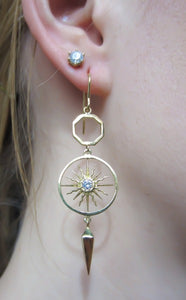 Diamond Sunburst Earrings from Heirloom by Doyle & Doyle
