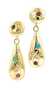 Vine Tear Drop Earrings