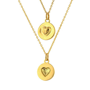 You and Me Sphere Heart Pendant Necklace