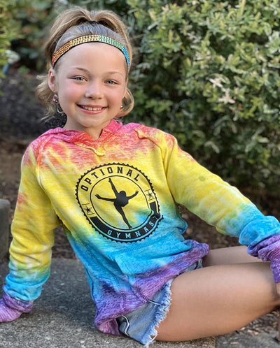 Optional Gymnast Girls Tie Dye Hoodie
