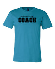 Aqua Cheerleading Coach Adult T-Shirt