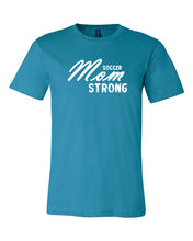 Aqua Soccer Mom Strong Adult Soccer T-Shirt