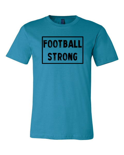 Aqua Football Strong Adult Football T-Shirt