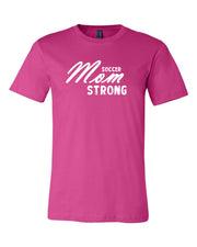 Berry Soccer Mom Strong Adult Soccer T-Shirt