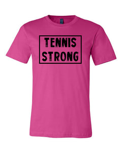 Berry Tennis Strong Adult Tennis T-Shirt With Tennis Strong Design On Front