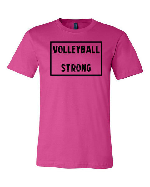Berry Volleyball Strong Adult Volleyball T-Shirt