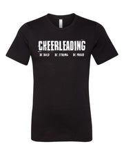 Black Cheerleading Be Bold Be Strong Be Proud Adult T-Shirt
