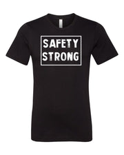 Black Safety Strong Adult Football T-Shirt