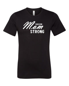 Black Soccer Mom Strong Adult Soccer T-Shirt
