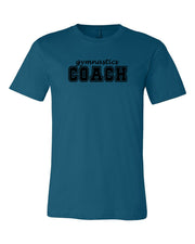 Deep Teal Gymnastics Coach Adult Gymnastics T-Shirts