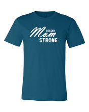 Deep Teal Soccer Mom Strong Adult Soccer T-Shirt