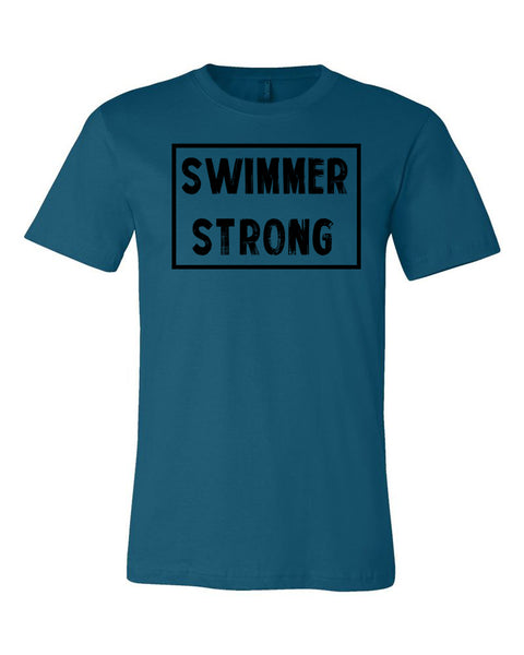 Deep Teal Swimmer Strong Adult Swim T-Shirt