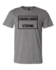 Heather Gray Cheerleader Strong Adult Cheer T-Shirt