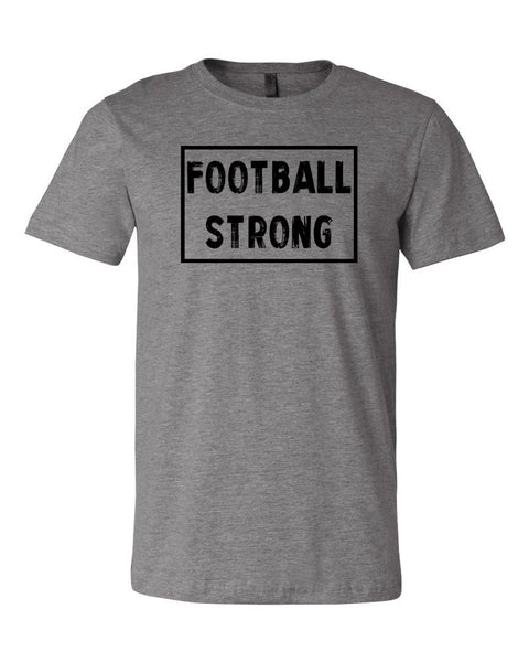 Heather Gray Football Strong Adult Football T-Shirt