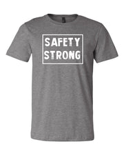 Heather Gray Safety Strong Adult Football T-Shirt