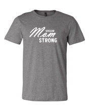 Heather Gray Soccer Mom Strong Adult Soccer T-Shirt