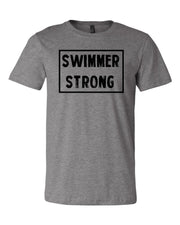 Heather Gray Swimmer Strong Adult Swim T-Shirt