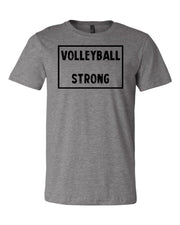 Heather Gray Volleyball Strong Adult Volleyball T-Shirt